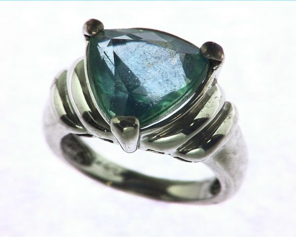Blue Quarts In a Sterling Silver Ring 2