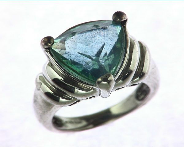 Blue Quarts In a Sterling Silver Ring 3