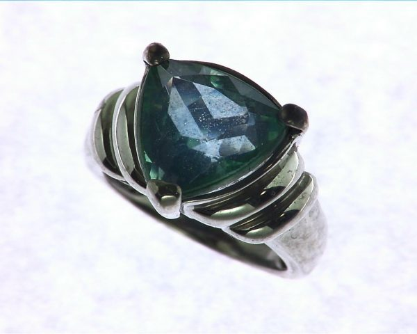 Blue Quarts In a Sterling Silver Ring 5
