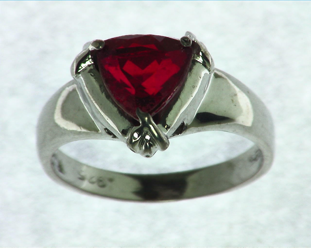 Rubberlite Color Quarts Sterling Silver Ring