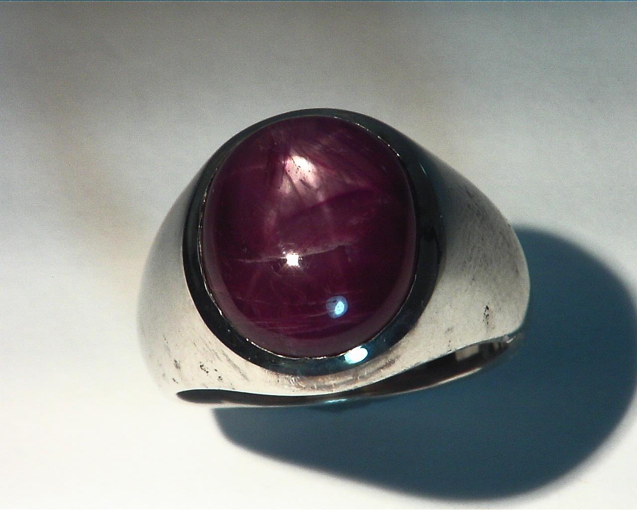 Star Ruby Natural Genuine Gemstone Gemstone Sterling Silver Gens ring,RSS,222 4