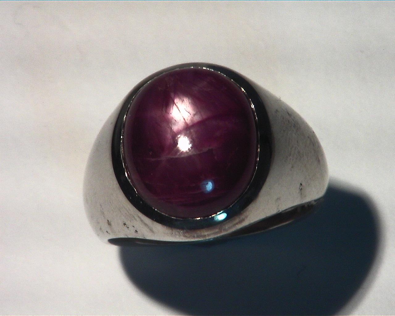 Star Ruby Natural Genuine Gemstone Gemstone Sterling Silver Gens ring,RSS,222 7