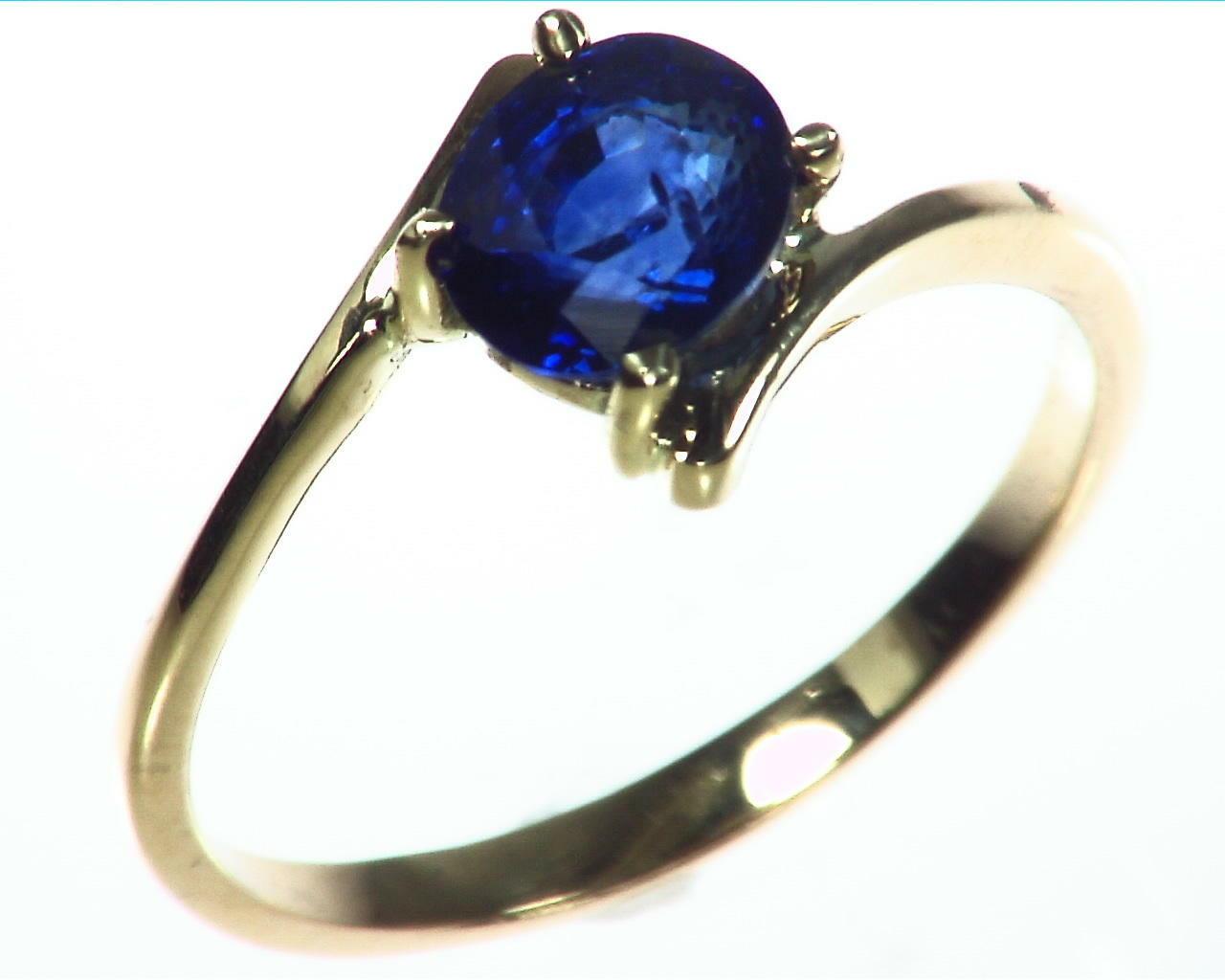 Blue Sapphire Gold Ring RFk323 2