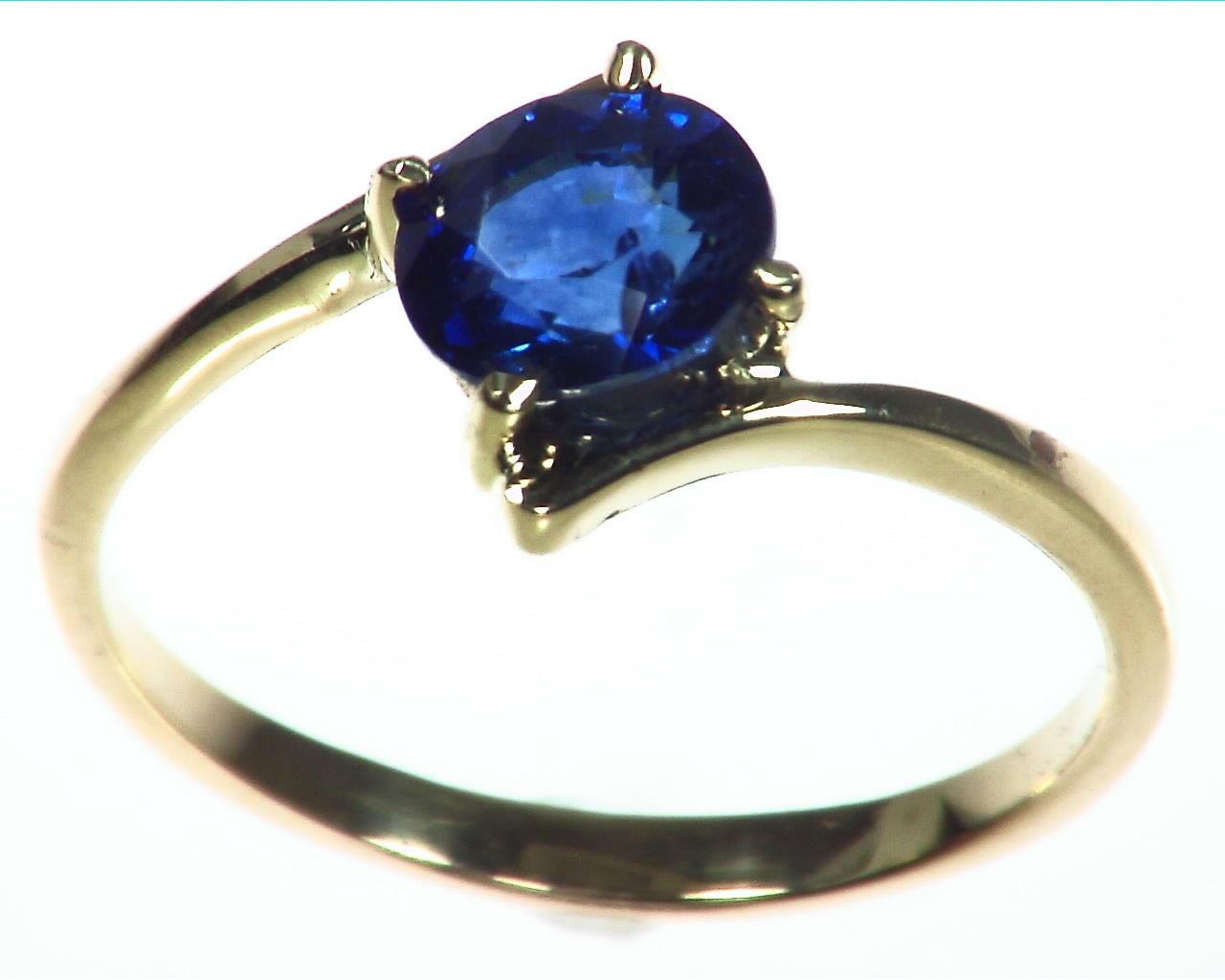 Blue Sapphire Gold Ring RFk323 3