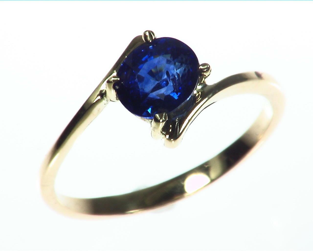 Blue Sapphire Gold Ring RFk323 4