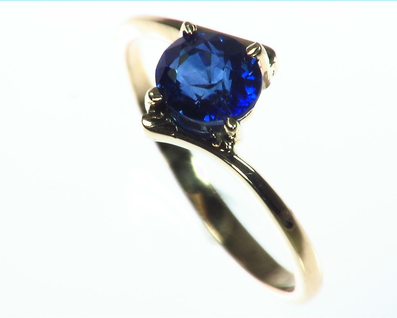 Blue Sapphire Gold Ring RFk323 5
