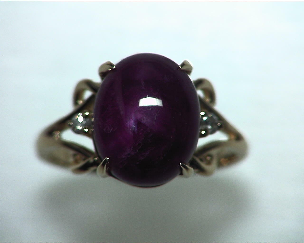 Star Ruby Natural Genuine Gemstone Ring in Gold RFK,341 1