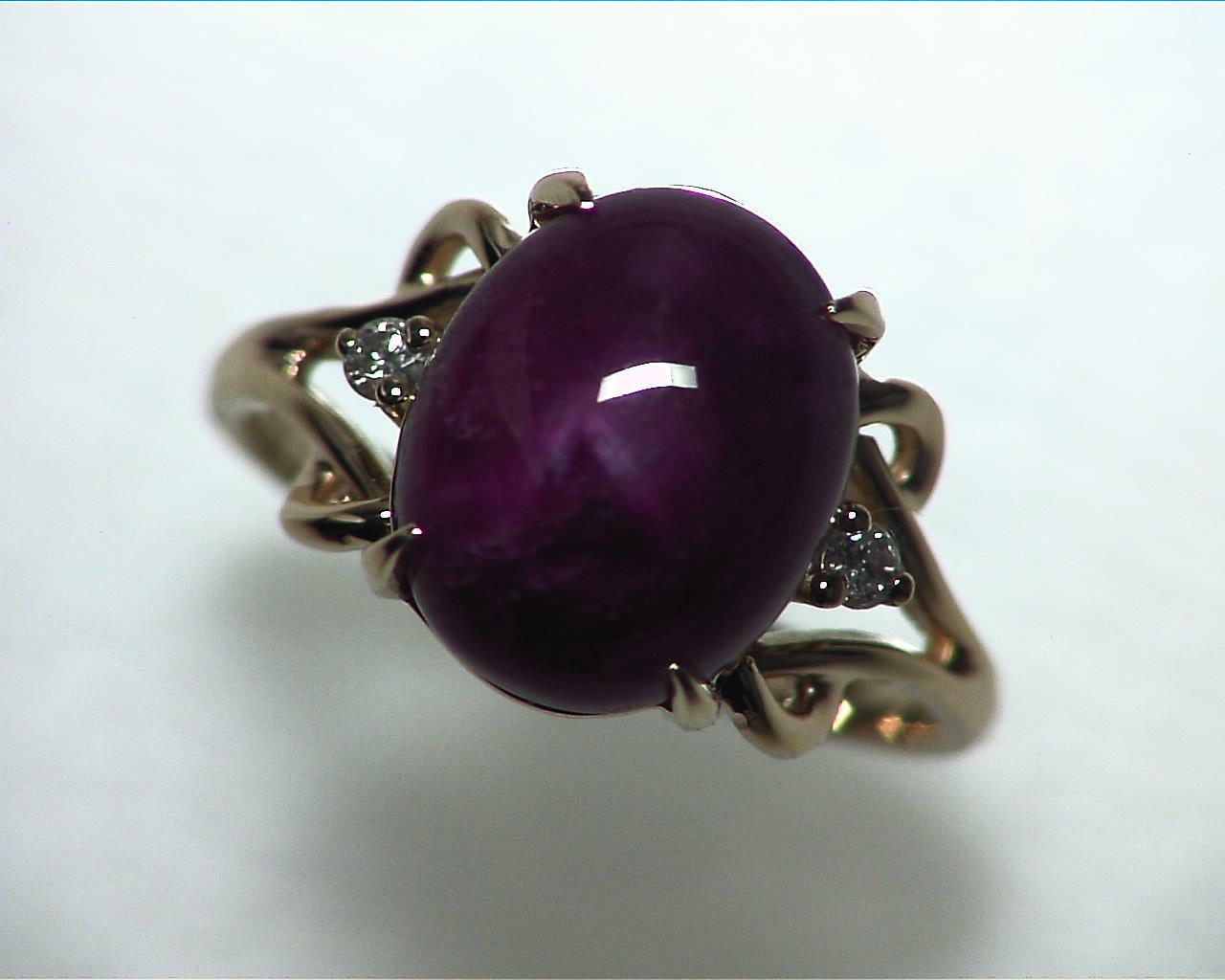 Star Ruby Natural Genuine Gemstone Ring in Gold RFK,341 5