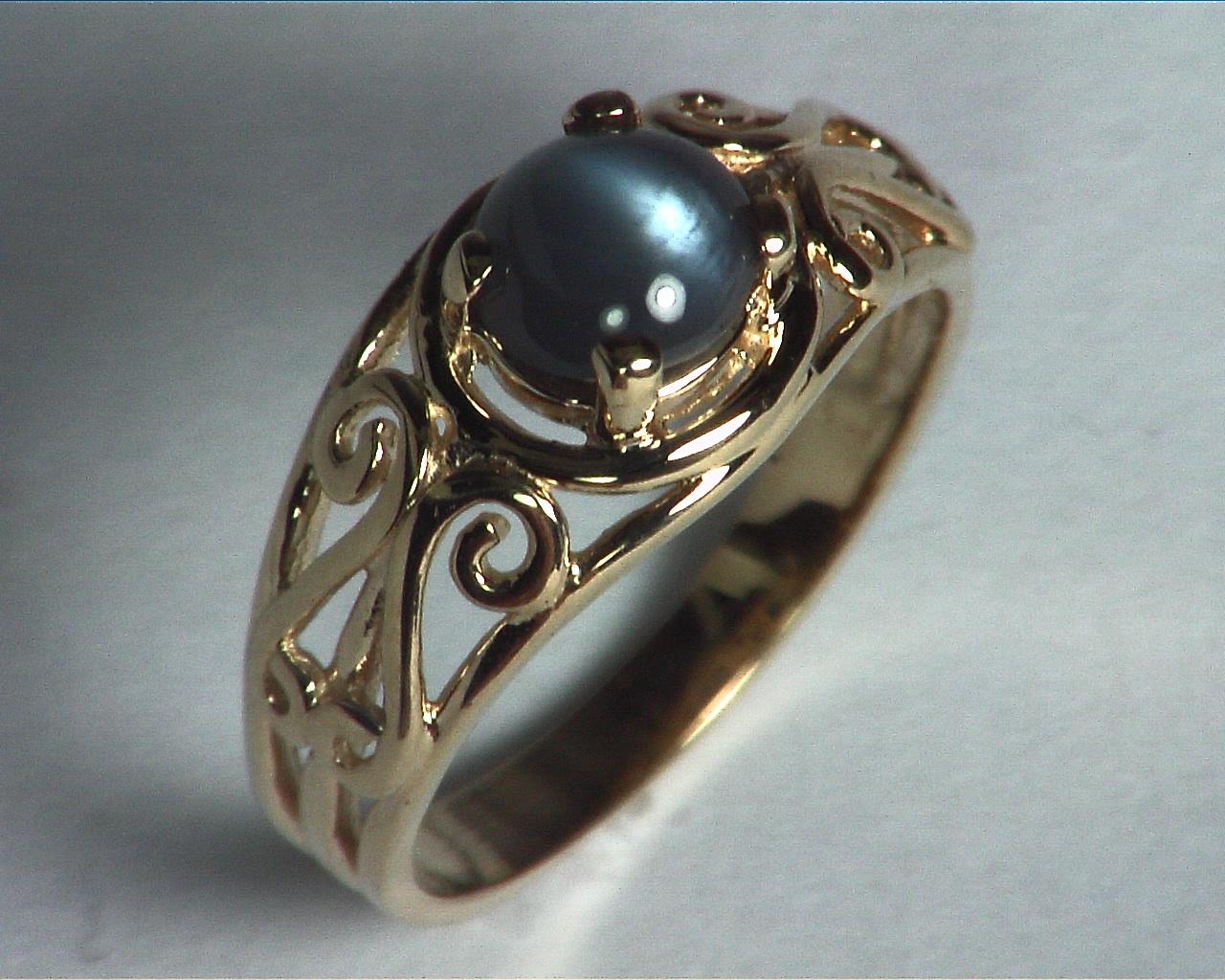 Alexandrite Cats, eye Genuine Gemstone Rose Gold Lady,s Ring RFK,359 6