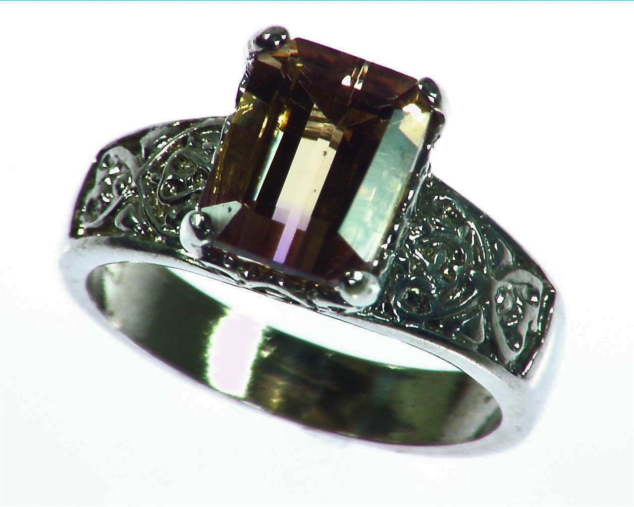 Ametrine Antique Design Sterling Silver Lady,s Ring, RSS,1084