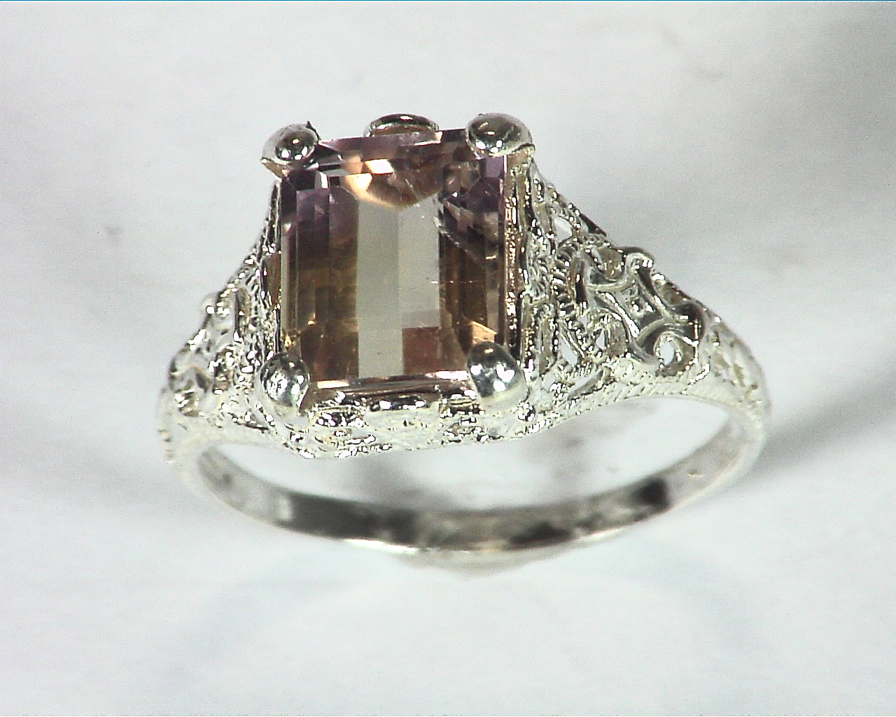 Ametrine Antique Design Sterling Silver Lady,s Ring, RSS,481