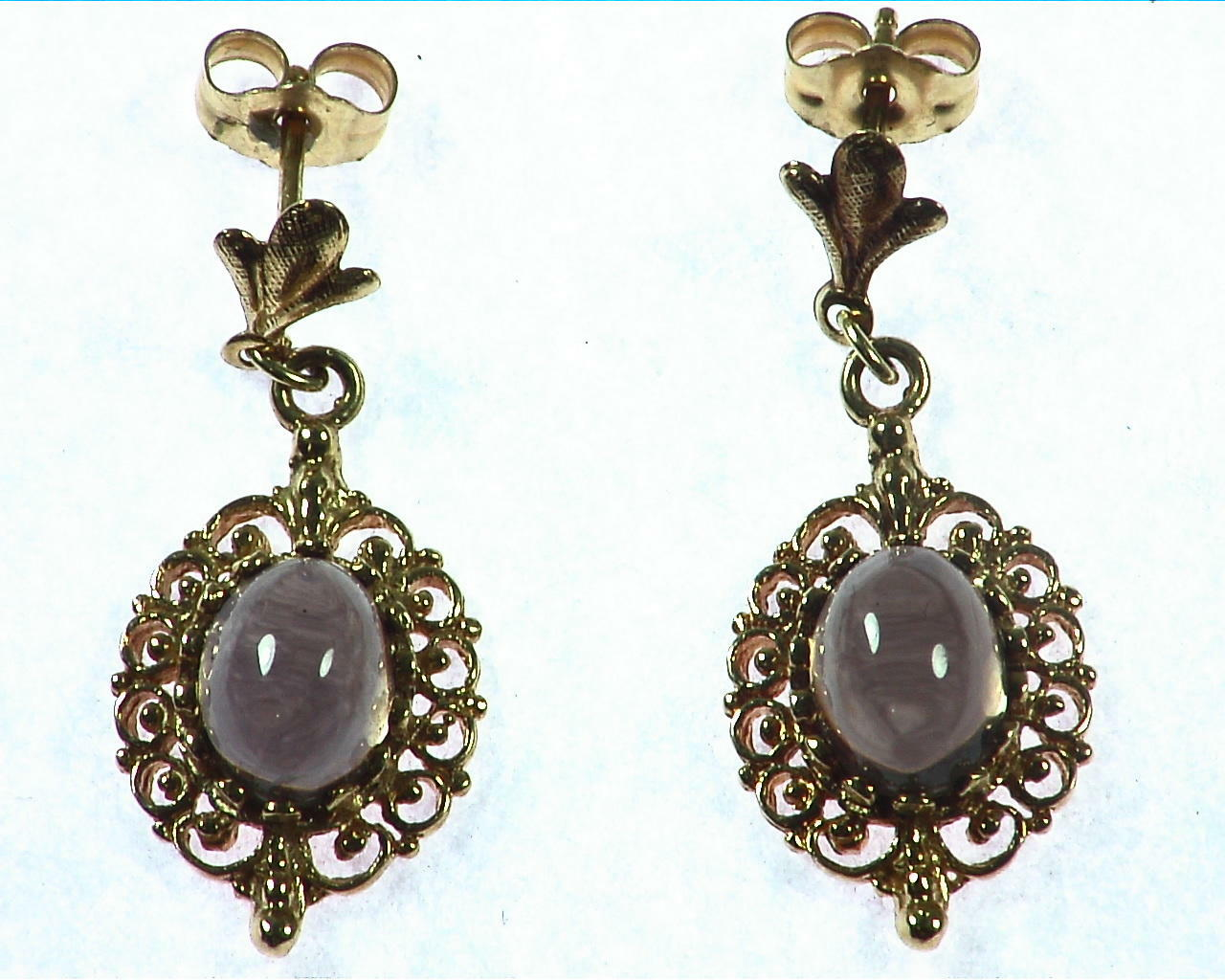 Quarts Gold Earrings