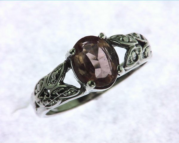 Pink Tourmaline Sterling Silver Ring
