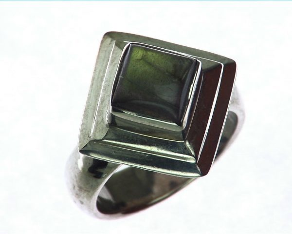 Labradorite Moonstone Sterling Silver Ring 4