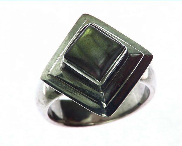 Labradorite Moonstone Sterling Silver Ring 5
