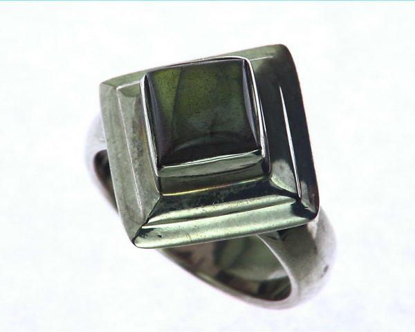Labradorite Moonstone Sterling Silver Ring 6